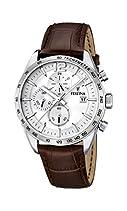Festina Herren-Armbanduhr XL Analog Quarz Leder F16760/1