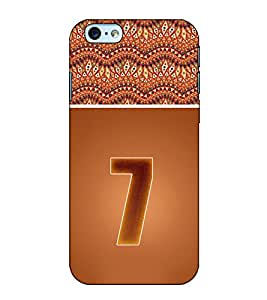 Fuson Designer Back Case Cover for Apple iPhone 6s Plus :: Apple iPhone 6s+ (Roman Number 7 theme)