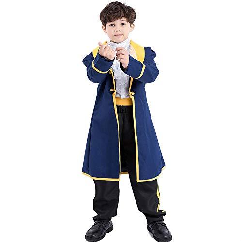 HG-amaon Kind Prinz Kleider Jungen Halloween Kostüm, Anime Rollenspiel Kostüm XL140-150 Kind - Kind Mittelalterlicher König Kostüm