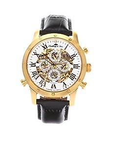 Lindberg & Sons Herren-reloj analógico de pulsera automático de cuero SK14H005 de Lindberg&Sons