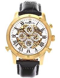 Lindberg & Sons Herren-reloj analógico de pulsera automático de cuero SK14H005