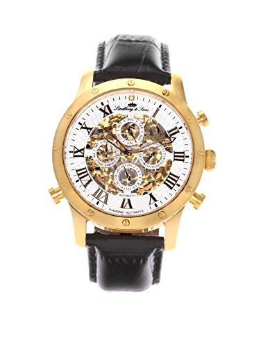 2c71359bfa Lindberg & Sons Automatic Watch with Skeleton Dial SK14H005 - Mouvement  Automatique - Affichage Analogique -
