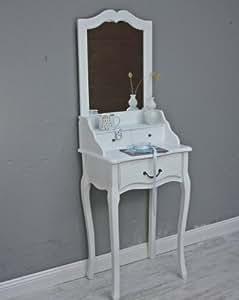 elbm bel schminktisch konsole spiegel wei antik landhaus holz frisiertisch schmal tisch amazon. Black Bedroom Furniture Sets. Home Design Ideas