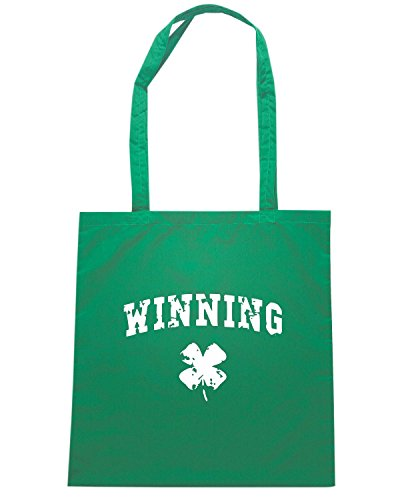 T-Shirtshock - Borsa Shopping TIR0224 winning st patty dark tshirt Verde