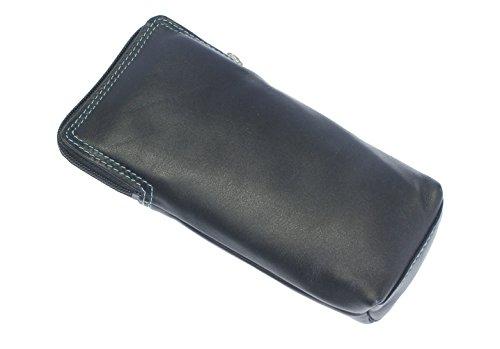 Qualitäts-weicher Leder-Spektakel / Glas-Kasten-Halter. Schwarz-Multi Farbe