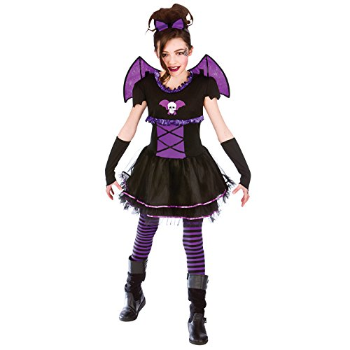 Childrens Batty Ballerina Horror Fancy Dress Up Party Halloween Costume Outfit (Ballerina Up Kostüm Dress)