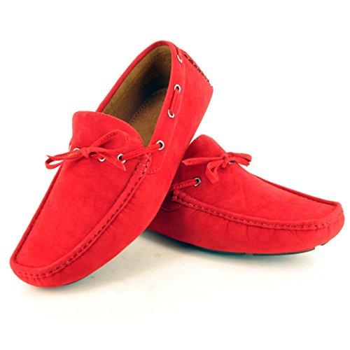 Casuais Vermelho Baixos Sapatos Escorregar Mocassins Com Apontado Detalhe Sapatos nC6Hnwx8r