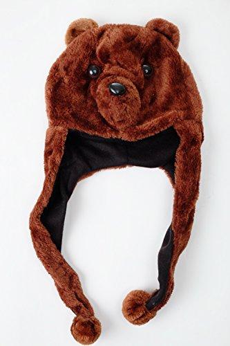ar Party Hut Mütze Halloween Karneval Bär Teddybär braun Halloween Karneval ca. 57 cm (Halloween-mütze)