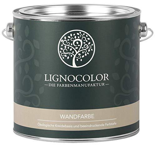 Lignocolor Wandfarbe Innenfarbe Deckenfarbe Kreidefarbe edelmatt 2,5 L (Weiss)
