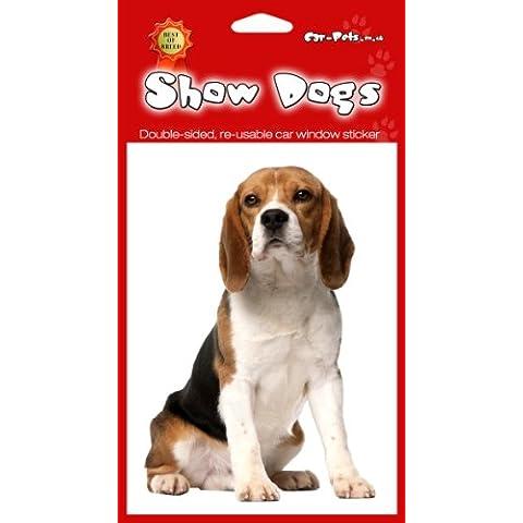 Beagle Hound, Double-face, frigorifero o Adesivo per auto, 2 pezzi