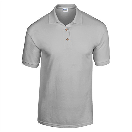 Gildan Dry Blend-Jersey Knit Polo Sport Grau L (V-neck Double-knit)