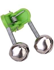 maltonyo1720pcs Pesca Rod Bell Bite Lure Alarma Doble Anillo de Bell (verde)