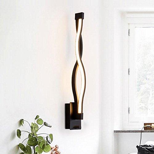 Mmyunx Wand Licht Wand Flutlicht Schlafzimmer Schwarz-Weißer Korridor Treppe Wandlampe [Energieklasse A +],Black -