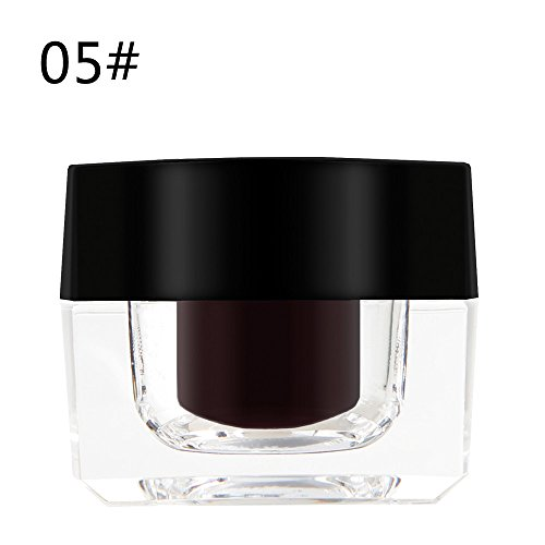 Hupoop Mini Augenbrauen Gel Creme mit Pinsel Make-up Kosmetik schwarz wasserfest Färbe Creme Augenbrauencreme (2E)