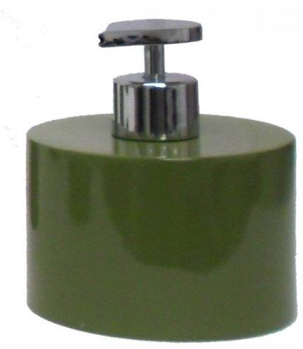 Seifenspender COSY olivgrün Pumpspender Edelstahl-Optik