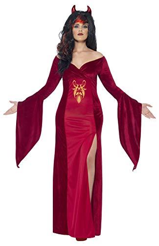Smiffys, Damen Teufel Kostüm, Kleid und Hörner, Größe: L, 44337