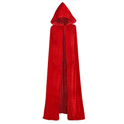 Cosplayitem Unisex Mantello Medievale con Cappuccio Lungo Costume da Halloween Natale Cosplay