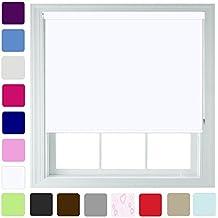 """Estor opaco enrollable (en diferentes colores y tamaños–trimmable, Blanco, 90cm x 165cm (35.4"""" x 65"""")"""