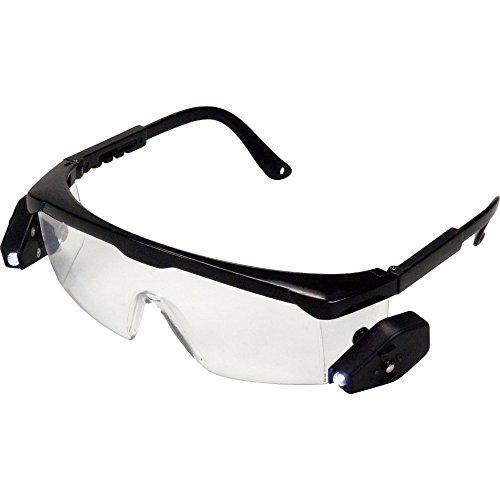 kwb LED Arbeitsbrille 947690 (mit zwei separat schaltbaren, flexibel einstellbaren LED's, mit Größenverstellung am Bügel) -