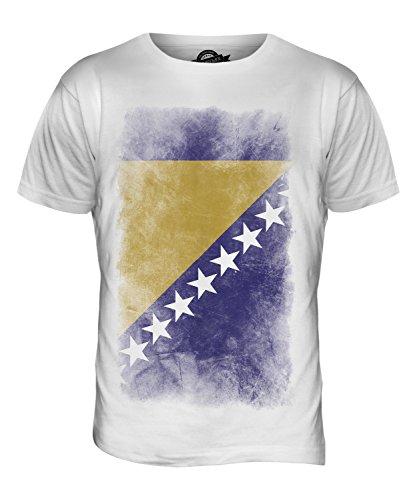 CandyMix Bosnien Und Herzegowina Verblichen Flagge Herren T Shirt Weiß