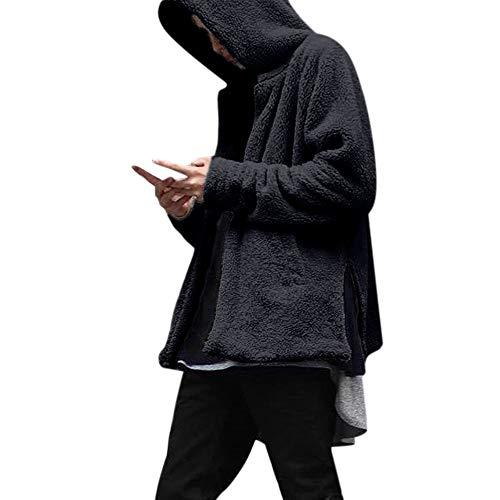 Cappotto casual autunno inverno moda uomo koly top in felpa con cappuccio doppio lato sciolto felpa da uomo felpa con cappuccio patchwork manica lunga da uomo cappotti giacca outwear