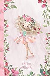 Greta's Notizbuch: Zauberhafte Ballerina, tanzendes Mädchen