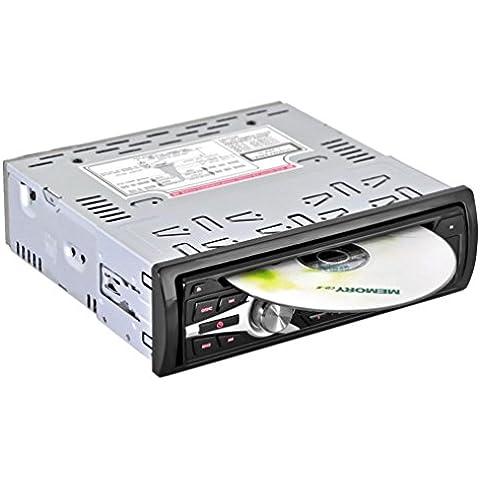 Lacaca Car Stereo DVD lettore CD Video Ricevitore Audio supporto radio FM Ingresso AUX SD USB, Telecomando a 4canali di uscita ad alta potenza
