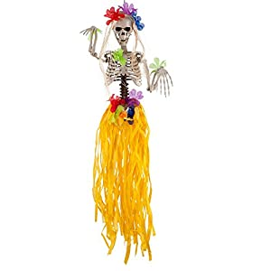 Carnival 08476-Esqueleto hawaiana de colgar, altura 90cm