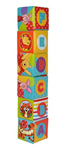 WINNIE THE POOH- Bloques blanditos, Disney Baby (Simba 9331003)