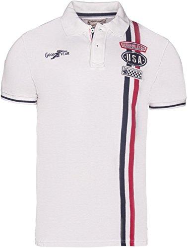 Goodyear Herren Poloshirt Las Vegas, Farbe:ecru;Größe:L