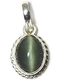 jewelryonclick de ojo de gato 4quilates original naturales ovalada suelto Gemstone colgante de plata de ley 92,5