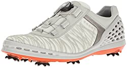Ecco Herren Men's Golf CAGE Golfschuhe, Weiß (50410SHADOW White/FIRE), 43 EU