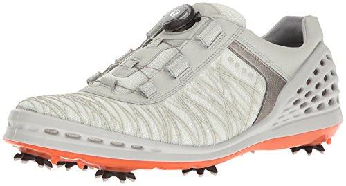 Ecco Herren Men's Golf Cage Golfschuhe, Weiß (50410SHADOW White/Fire), 43 EU (Comfort Golfschuh White)