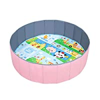 Warooma Kids Play Ball Pool Baby Round Ball Pit Comfortable Ocean Ball Pool Outdoor Indoor Nursery Baby Playpen, for Toddler BoysGirls