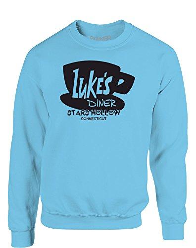 Luke's Diner, Kinder Gedrucktes Sweatshirt - Hellblau/Schwarz 7-8 Jahre -