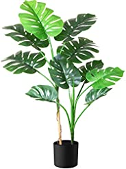 Fopamtri Fake Monstera Deliciosa Plant 110cm Faux Swiss Cheese Artificial Tropical Plant for Indoor Outdoor Ho