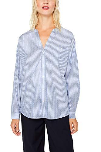 ESPRIT Damen 089Ee1F001S Bluse, Blau (Light Blue 440), (Herstellergröße: 44)