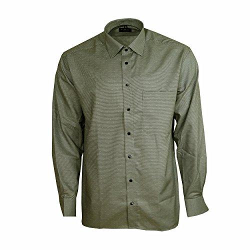 Eterna Herrenhemd Langarm Comfort Fit Grau Strukturiert Baumwollhemd Business Hemd Hemden Freizeit Modische Gr. XXL/46 (Hemd Manschette 33)