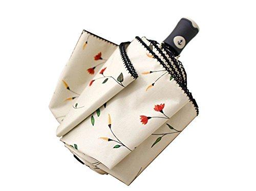 Trade® tipo compatto ombrello foglia da viaggio rafforzare il anti-vento auto on / off ombrello donna leggero trasportare maneggiare e 8 costole in fibra di vetro
