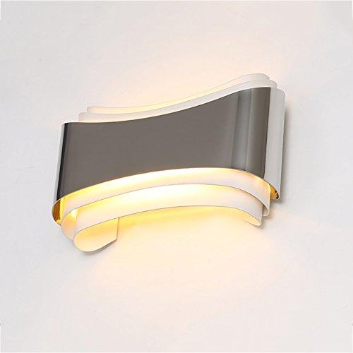 Applique Murale Dimmable Murale, Chambre à Coucher Lampe de Chevet Living Room Décoratifs Lumières Simple Aisle Lights Creative LED, Argent (Taille : 22 * 13cm)