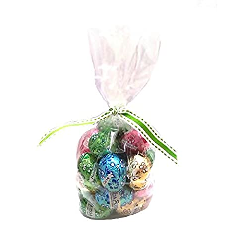 20 x Assorted Luxury Mini Easter Eggs In Gift Bag - Milk Chocolate La Suissa Italian (Amaretto, Coffee, Hazelnut & Cocoa Creams)