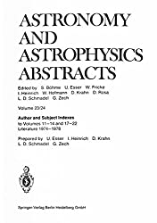 Author and Subject Indexes: to Volumes 11-14 and 17-22 Literature 1974-1978 (Astronomy and Astrophysics Abstracts)