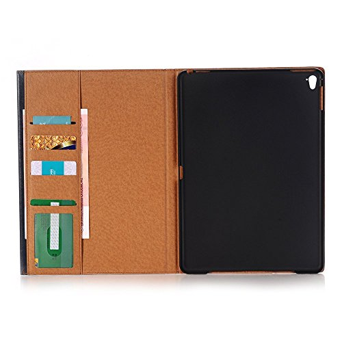 Étui iPad, Elec Fan® iPad Housse étui Case Smart Cover Étui de protection en cuir PU pour le Apple iPad en cuir PU avec fonction support, veille automatique et compartiment pour cartes de crédit iPad  bleu