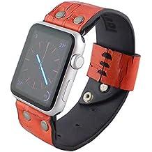 Cinturino Apple Watch 42mm in pelle Rosso, Minardi Italian Handmade Houst, Morbida pelle con Chiusura Rapida a Perno, Bracciale Strap Band for Apple Watch Band Series 1&2 (42mm Rosso)