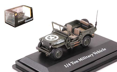 Jeep 1/4 ton military 1941 vehicle usa green 1:72 - cararama - mezzi militari - die cast - modellino