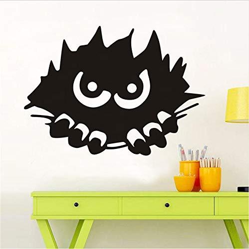 Monster Peeking Wandaufkleber Für Kinderzimmer Halloween Dekoration, Scary Monster Stalking Wandtattoos Dekoration Zubehör 41x57 cm