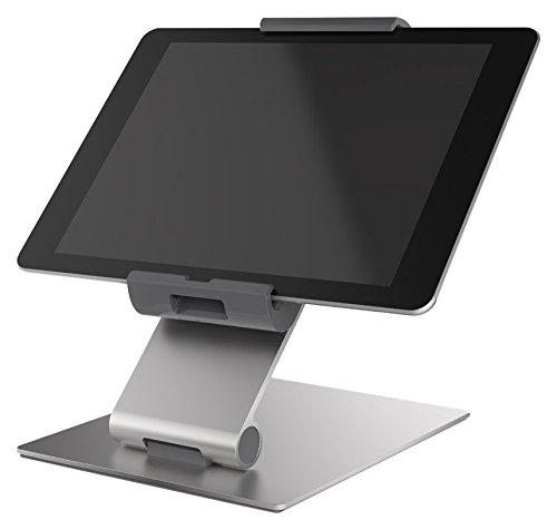 Durable 893023 Tablet Tischhalterung (für Tablets, 7-13 Zoll, 360° drehbar mit Diebstahlsicherung) silber/anthrazit