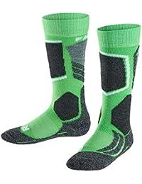 FALKE calcetín de esquí Infantil SK 2 Kids, otoño/Invierno, Infantil, Color Verde - Verde, tamaño 23-26