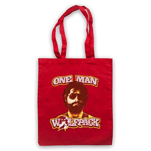 Inspiriert durch Hangover One Man Wolfpack Inoffiziell Umhangetaschen Rot