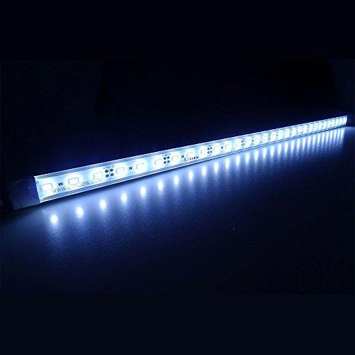 LTRGBW SMD 5730 5800K-6200K 12V DC 12W LED blanco frío brillante estupenda del acuario del LED Franja de luz - luz de inundación impermeable aluminio de la barra de iluminación LED Linear - Gabinete de barras LED de la lámpara (50 cm)